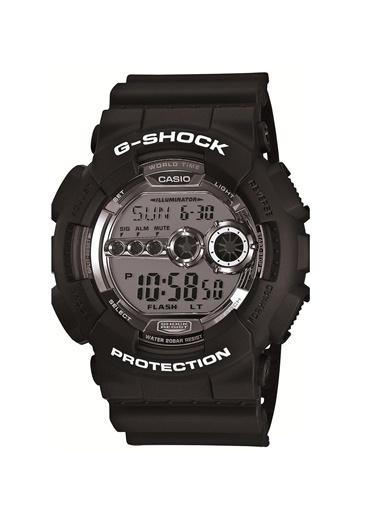 Casio G-Shock Gd-100Bw-1Dr Erkek Kol Saati Siyah
